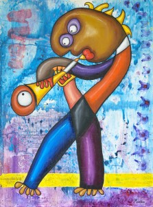 Trumpetman painting